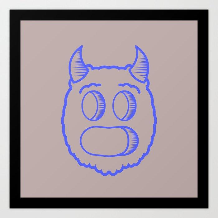 Monster head Art Print
