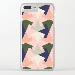 Retro pattern geometric Clear iPhone Case