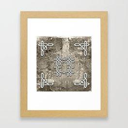 Wonderful celtic knot Framed Art Print