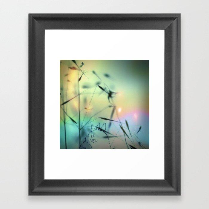 Magic is near ^_^ Framed Art Print
