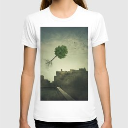 Greening of the foggy town T-shirt