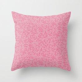 Modern Blossom - Coral Sugar Throw Pillow