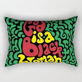 God is a Black Woman Rectangular Pillow