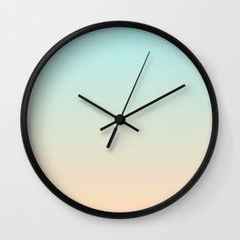 Pale Turquoise Tropical Paradise Ibiza Island Balearic Beach Wall Clock