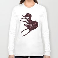the hound Long Sleeve T-shirts featuring Happy Hound  by exeivier