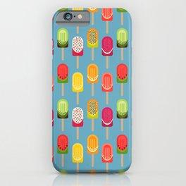 Fruit popsicles - blue version iPhone Case