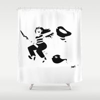witchcraft Shower Curtains featuring Art is witchcraft by Koni