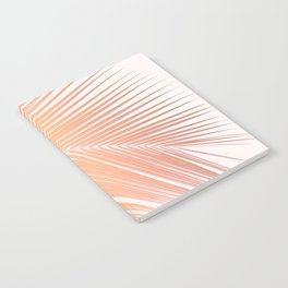 Palm leaf - copper pink Notebook