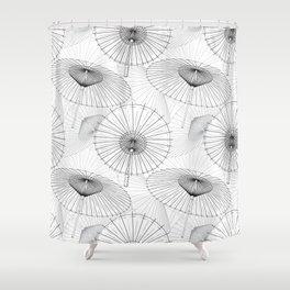 Japanese Umbrella pattern #9 Shower Curtain