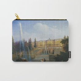 View of the Big Cascade in Petergof and the Great Palace of Petergof by Ivan Aivazovsk Carry-All Pouch