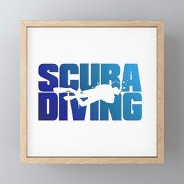 Scuba Diving Framed Mini Art Print