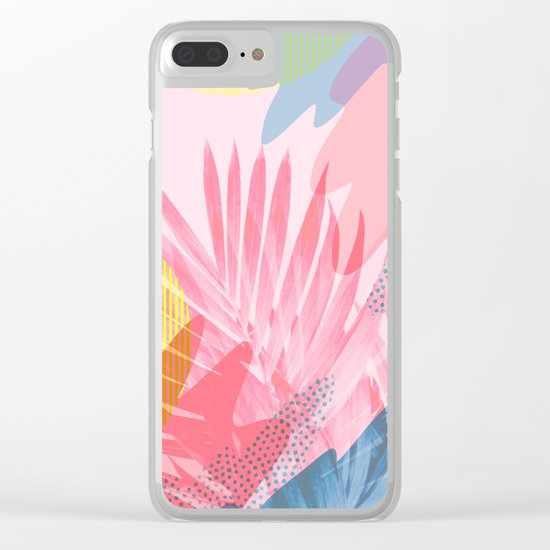 Pastel Jungle Clear iPhone Case