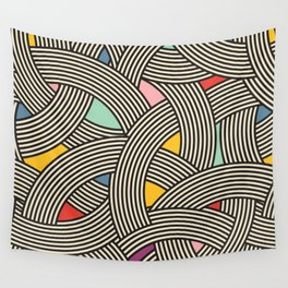 Modern Scandinavian Multi Colour Color Curve Graphic Wall Tapestry