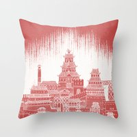 mars Throw Pillows featuring Mars by David Fleck