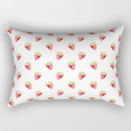 strawberry new cute art pattern texture fun color style 2018 cover case skin old fruit summer shirt Rectangular Pillow