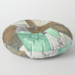 Drinking Absinthe Aperitifs in a Paris Cafe with Vincent still life portrait by Vincent van Gogh Floor Pillow