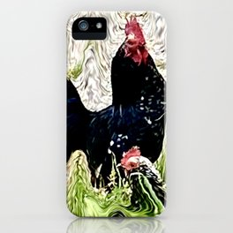 Chickens in the straw iPhone Case