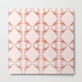 Kawaii Rufous Bellied Thrush Pattern Metal Print