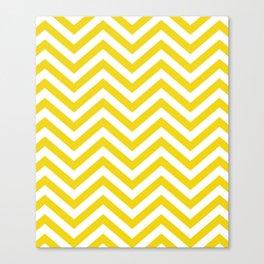 Yellow Chevron Pattern Canvas Print