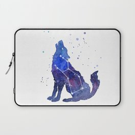 Galaxy Wolf Lupus Constellation Laptop Sleeve