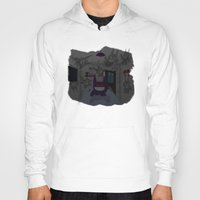 gengar Hoodies featuring Lurking Gengar by Sebast Hoyos