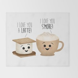 I Love You A Latte! I Love You S'more! Throw Blanket