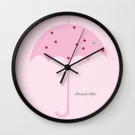 Le Parapluie Rose Wall Clock