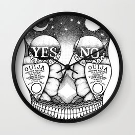 ouija inspired sugar skull Wall Clock