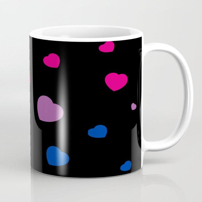 Chaotic Hearts, Pride Flag Series: Bisexual Coffee Mug