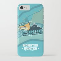 monster hunter iPhone & iPod Cases featuring Monster Hunter All Stars - Pokke Permafrosts  by Bleached ink