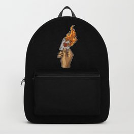 Hand with Burning Ace Card | Poker Luck Gambler Backpack