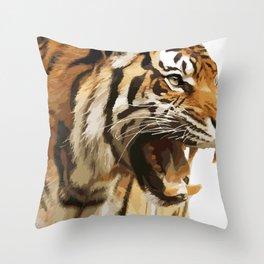 Royal tiger Throw Pillow