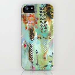 """Fly Free Between"" Original Painting by Flora Bowley iPhone Case"