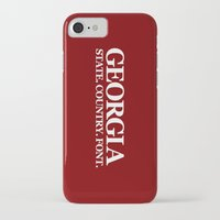 georgia iPhone & iPod Cases featuring Georgia by The Cracked Dispensary