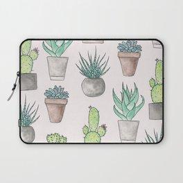 Succulent Watercolor Pattern Laptop Sleeve