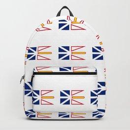 flag of newfoundland and labrador -avalon,newfoundlander,labradorian,john's,conception Backpack
