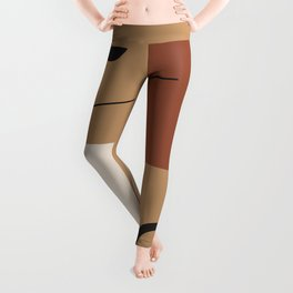 The window of the soul - Modern hand drawn abstract art illustration Leggings