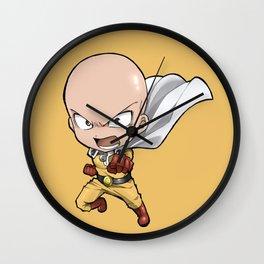 Chibi saitama punch man Wall Clock