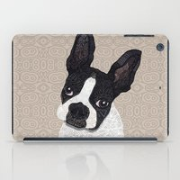 boston terrier iPad Cases featuring Boston Terrier 2015 by ArtLovePassion