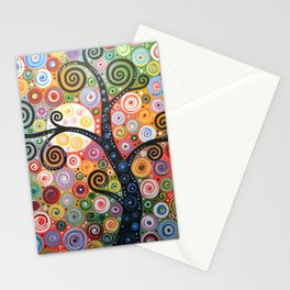 Abstract Art Landscape Original Painting ... Dreaming of Magic Stationery Cards