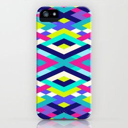 Smart Diagonals Pink iPhone Case