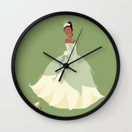 the princess and the frog Wall Clock