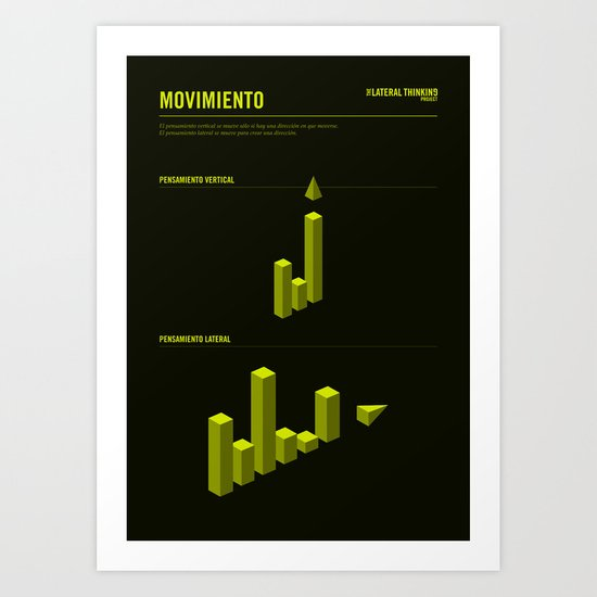 The LATERAL THINKING Project - Movimiento Art Print