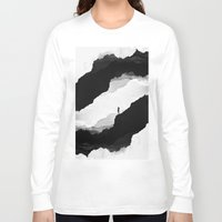 mountains Long Sleeve T-shirts featuring White Isolation by Stoian Hitrov - Sto