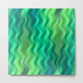 Waves green no. 1 Metal Print