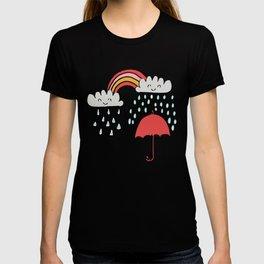 April showers rainbow Clouds Pink #nursery T-shirt