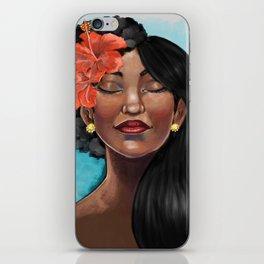 Hibiscus Versatile Afro iPhone Skin