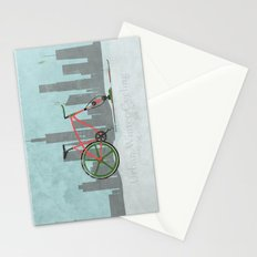 Urban Winter Cycling Stationery Cards