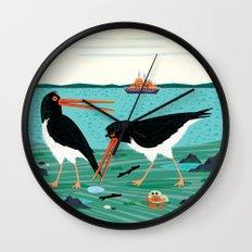 The Oystercatchers Wall Clock