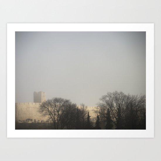 Foggy Castle Art Print